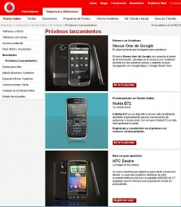 Vodafone lanzamientos de Mayo