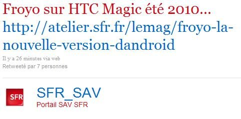 Twitter SFR - Froyo para Magic