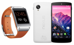 samsung galaxy gear google nexus 5